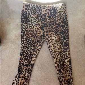 Cheetah print cropped pants